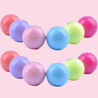 Wholesale Round Candy Color Moisturizing Lip Balm Natural Plant Sphere Lip Gloss Lipstick Fruit Embellish Lip Smacker Branded Makeup