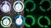 beaded chain findings - 4 COLORS Noctilucent Silicone Balance Bracelet Glow In The Dark Bead Bracelets With Tags Find Your Balance