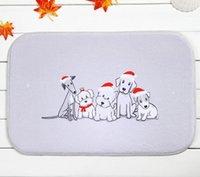 american pet classics - New Arrival Cute Animal Pug Dog Welcome Christmas Home Decoration Stylish Nice Classic Bone Shape Pet Dog Mat