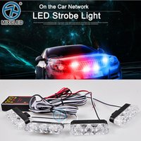red and blue strobe lights - x3 led Ambulance Police Car Truck Emergency Warning Vehicle Strobe Light Red and Blue with control box