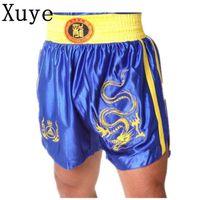 Wholesale man summer mma boxing shorts fight thai grappling sanda fitness wrestling kickboxing boardshorts men s training trunks shorts