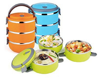 Wholesale Stacking Tier Vacuum Insulted Lunch Box Container Tiffin Vacuum Seal