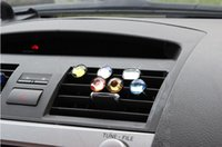 Wholesale 3 Pair Fashion Multi colored Acrylic Decorative Car Outlet Air Freshener Car Styling