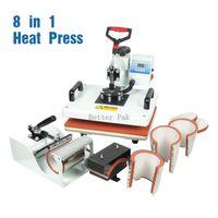 Wholesale HM CIN1 in1 heat press single heating High pressure T shirt heat press machine sublimation heat transfer machine cm cm
