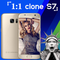 Wholesale Unlock Original Goophone S7 Clone s7 Android bit dual SIM Show Octa Core Smartphone quot G LTE GB RAM GB ROM MP Cell phones