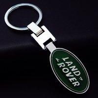 Wholesale High Quality Metal Car Keychain Titanium Key Chain Car Emblem Keyring Car Logo Key Rings Gift badges for Land Rover Prices