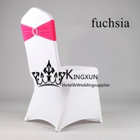 band europe - White Spandex Chair Cover Lycra Chair cover With Fuchsia Lycra Band Spandex Chair Band With Buckle
