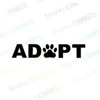 adopt a cat - Exterior Accessories Car Stickers ADOPT a DOG CAT or shelter PET Paw PRINT STICKER For Car Truck Window Bumper Laptop Locker Glass