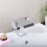 ad handles - Good Quality Ceramic Double Handles Deck Mounted Brass Waterfall Chrome Finish Basin Mixer Tap Bathroom Vanity Faucet AD