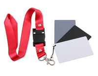 Wholesale 3 in Grey Card x5 cm White Black Gray Color Balance Filter Card with Strap for DSLR Camera Accessories Photography