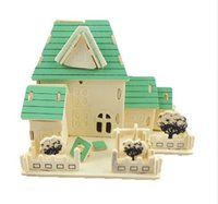 architecture construction - Architecture Construction Small Purple Red Villa Cabin Building Toys DIY D Puzzle Miniature Model Educational Toys