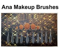 Wholesale Toothbrush Oval Makeup Brushes Multipurpose Artis Bendable Toothbrush Shaped Cosmetic Brush Set Foundation Kit Beauty Brush