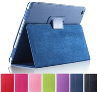 magnetic fashion - Matte Litchi Surface Flip PU Leather Case for apple Ipad Mini Retina Smart Stand Magnetic Pouch Cover
