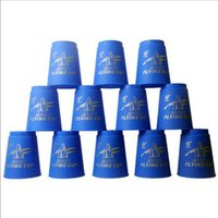 Wholesale Hot selling Funny Magic Cup Speed Flying Stacks Stack Pack Sport Cup Stacking Game Prop Set with Timer Speed sets