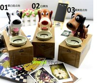 automated dog toys - Bank Dog Steal Money Coins Saving Box Pot Case Kids Gifts Automated Dog Steal Coin Itazura Piggy Money Save Box jy768