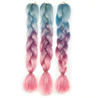 Wholesale Kanekalon Synthetic Braiding hair Folded inch g Ombre Color Jumbo Braid Hair Extensions