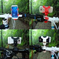 Wholesale Universal bike phone holder Cycling Bicycle adjustable phone mount holder on bike for iphone s plus S samsung s6 S5 s4 Car GPS