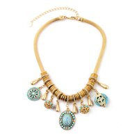 Wholesale Very Beautiful Women Necklaces Luxury Snake Link Gemstone Fashion Luxury Jewelry Brand Style Party Wedding Necklaces Red Green