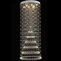Tiffany Kitchen 15 ~ 20sq.m VALLKIN Round LED Ceiling Chandeliers Crystal Pendant Lights Lamp with D60CM H150CM for Dining Room Hallway Hotel