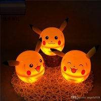 Wholesale Pikachu Led Table Lamp Poke Portable Energy saving Desk Lamp With Power Charger Desk Lamp Reading Lamp With box EMS shipping E1513