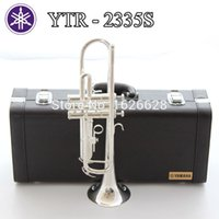 Wholesale New Bach Brass Trumpet S Bb Silver Plated Trompeta Profissional Instrumentos Case Mouthpiece
