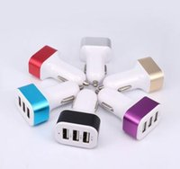 Wholesale For iPhone s Car Charger Traver Adapter Car Plug Hot Selling Triple USB Ports Car Charger DHL Without Package CA059