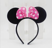 baby boy decorations - 500pcs mickey and Minnie mouse ears headband girl boy Hair Band design kids baby birthday party supplies decorations Hair Accessories