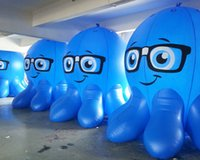 balloon advertisement - New PVC Air Inflatable Balloon Blimp Blue Octopus For Advertisement