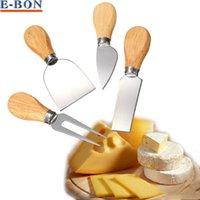 Wholesale 4pcs Set Knives Bard Set Oak Handle Cheese Knife Shovel and Fork Spatula Kitchen Cooking Tools