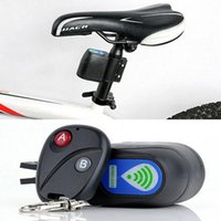 Wholesale New Bicycle Wireless Remote Control Anti Theft Alarm Shock Vibration Sensor Bicycle Bike Security Alertor Cycling Lock