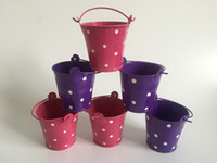 baby planter - Metal cup Planter Party gift holder Iron pots wedding favor holder mini bucket baby shower pail