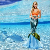 Wholesale Girls role playing mermaid costume dress big girl party mermaid dress up nightclub bar stage masquerade halloween cosplay clothes beach set