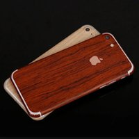 apple decals - For iPhone s Plus s SE Luxury Wood Skin Phone Sticker Full Body Decal Wrap Protective wooden Cover Case opp bag