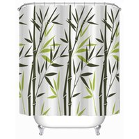bamboo fabric curtains - Customs W x H Inch Shower Curtain Bamboo Waterproof Polyester Fabric Shower Curtain