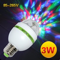 Wholesale E27 W Colorful Auto Rotating RGB LED Bulb Stage Light Voice Active Party Lamp Disco for home decoration lighting lamps
