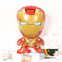 aluminium news - News cm Iron Man Foil Balloons Cartoon foil balloon for party decoration