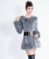 angora coats - New Arrival Hot Sale Fashion Wool Fur Collar Lovely Girl Cute Female Woolen Cotton Slim Angora Fur Warm Fur Models Coat