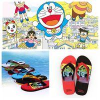Wholesale couples Beach Summer Slippers Flip Flops Couple slippers Doraemon slippers Cartoon slippers flip flops color LJJK506