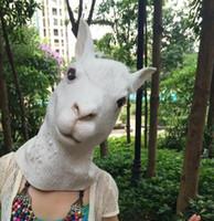 alpaca cap - Halloween mask caps All code sacred animals alpaca mask Animals props horsehead goats mask