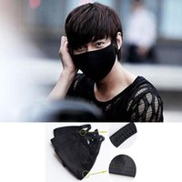 Wholesale 30pcs Unisex Mens Womens Cycling Wearing Anti Dust Cotton Mouth Face Mask Respirator Black