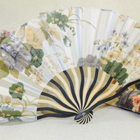 Wholesale Church and special Kuangshuai fan Wind Edogawa son and two green inch folding keel female fans multicolor into