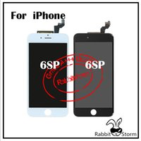 Wholesale For IPhone SPlus LCD Display inch Touch Screen Digitizer Full Assembly Replacement Parts Grade A Black or White