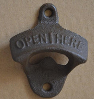 metal bottle opener - Metal wall mounted bottle opener with two srews
