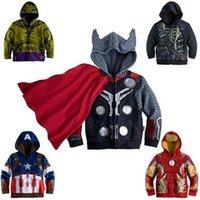 america winter jacket - Children Hoodies JACKET BABY Boys Captain America Hoodies Jacket Avengers Hulk thor iron man Superhero cosplay Kids hoodie jacket