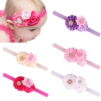 baby sun rose - Baby Sun Flowers Rose with Thin Ribbon Headbands Girls Flowers Hair Band Infant Lovely Headwrap Children Flowers Hair Accessories Colors