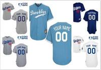 Wholesale Los Angeles Dodger New Gray Light Navy Blue White Customized Jerseys Men Women Kids Los Angeles Dodger Baseball Custom Jerseys
