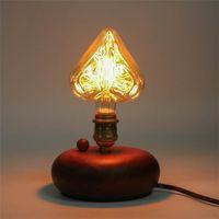 Wholesale Retro Tungsten V E27 W Edison Incandescent Filament Light Retro Vintage Lamp Star Heart Shape Bulb Warm White LED Edison Lights
