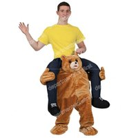 Wholesale 2016 Teddy Bear Stuffed Ride On Me Stag Mascot Carry Piggy Back Fancy Dress Costume