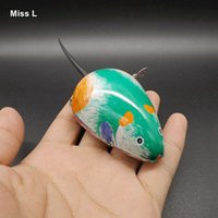 animal mechanical games - Classic Clockwork Vintage Tin Toys Mouse Wind Up Toys Mechanical Game Collection Decoration Gift