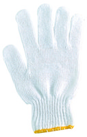 Wholesale 7 Gauges bleached T C string knitted gloves pairts Bag price for one bag gloves